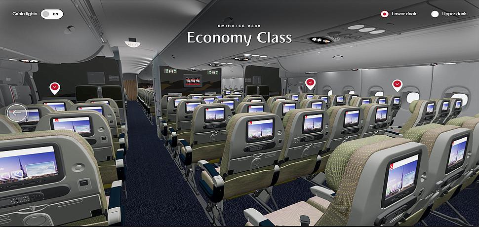 Emirates, emirates.com'da sanal gerçeklik teknolojisinin öncülüğünü yapıyor