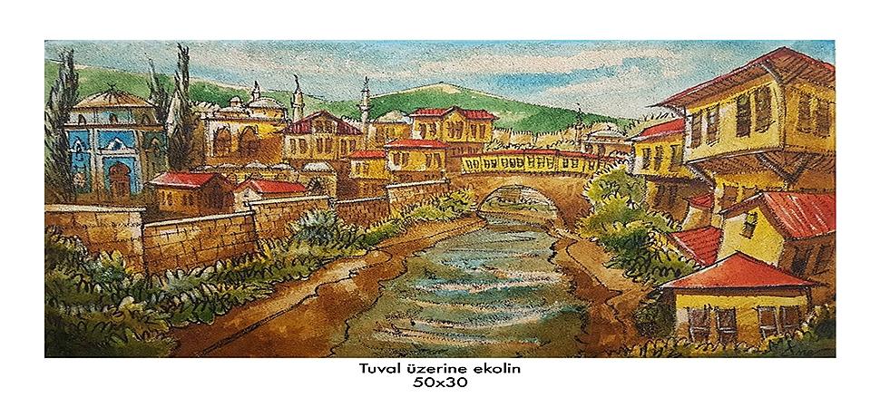 Asırlık kent tuvallere yansıdı