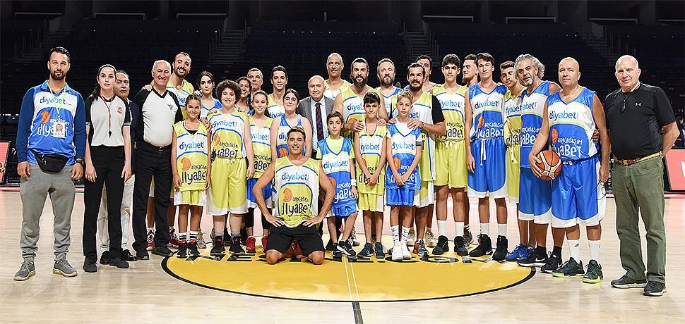 Diyabetli çocuklar sporla engelleri aştı farkındalık için ünlülerle basketbol oynadı