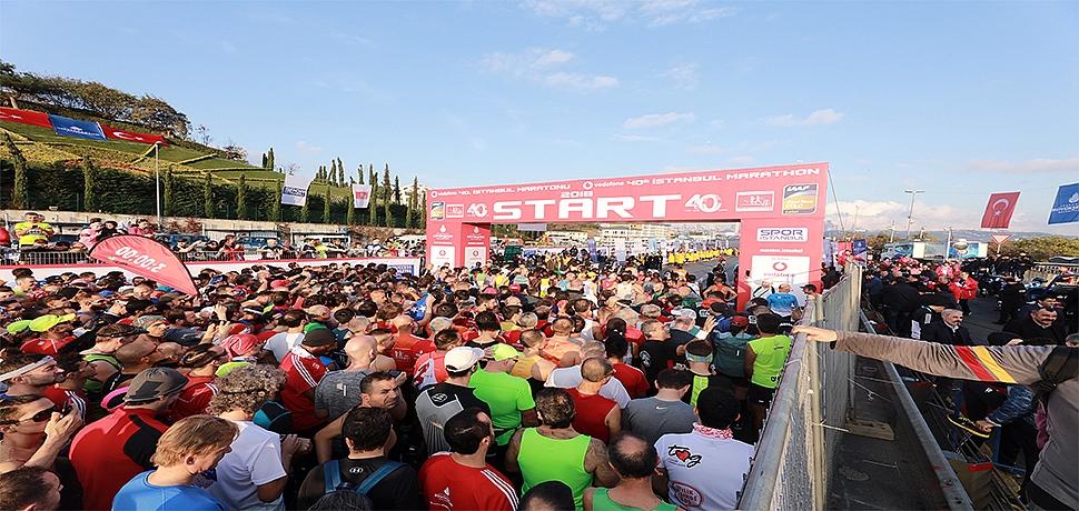 Vodafone 40. İstanbul Maratonu'nda Yüz Binler Sağlık İçin Koştu
