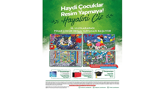 38. Pınar Çocuk Resim Yarışması Başlıyor!