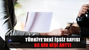 Türkiye'deki işsiz sayısı 83 bin kişi arttı