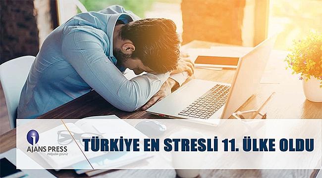 En stresli 11'inci ülkeyiz!
