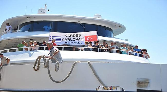 Seferihisar-Samos  feribot seferleri yeniden başladı