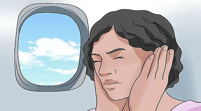 Uçakta basınç dengesi için, sık yutkunun