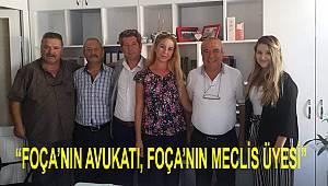 Foça İYİ Parti'den Av. Begüm Celep'e 'Hayırlı Olsun' Ziyareti