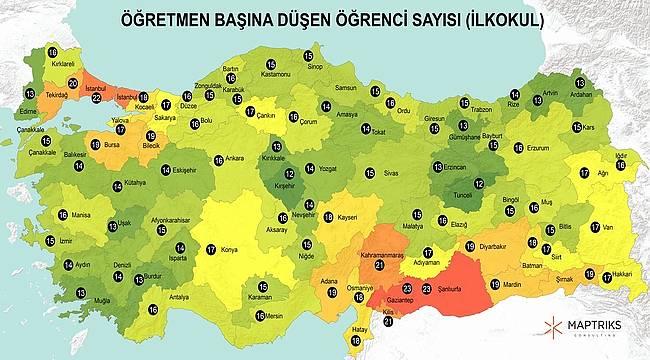 Maptriks Türkiye'nin eğitim haritasını çıkardı