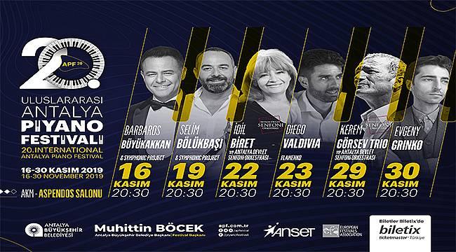 Uluslararası Antalya Piyano Festivali başlıyor!