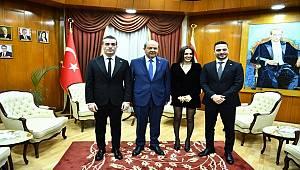 Baba Parası'nın yıldızları KKTC Başbakanı Ersin Tatar'ı ziyaret etti