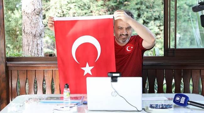 Alinur Aktaş milli sporcularla buluştu