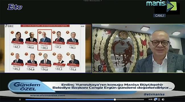 Başkan Ergün Manisa Büyükşehir Belediyesinin çalışmalarını anlattı