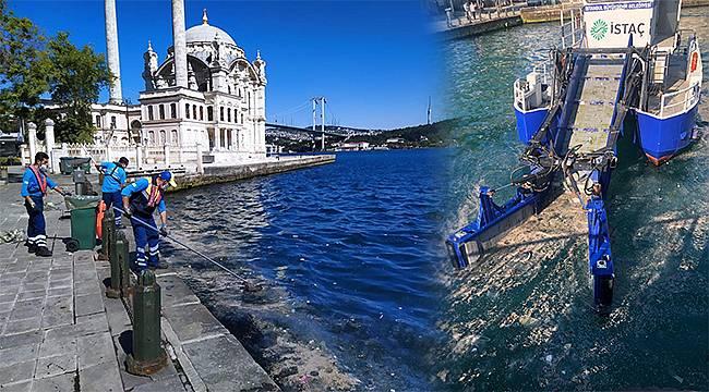 İstanbul'da lodosun kıyılara yığdığı atık ve birikintiler temizlendi
