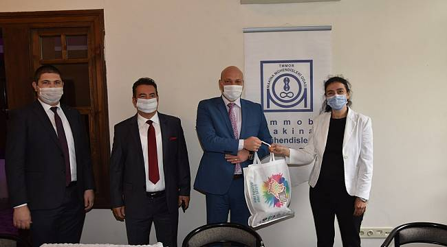 Manisa Büyükşehir'den Makine Mühendisleri Odasına Maske Desteği