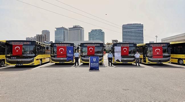 Bursa Büyükşehir'in otobüs filosuna 20 otobüs daha eklendi