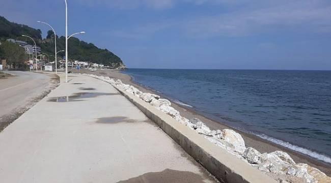 Gemlik ve Karacabey sahilindeki kaldırımları yenilendi