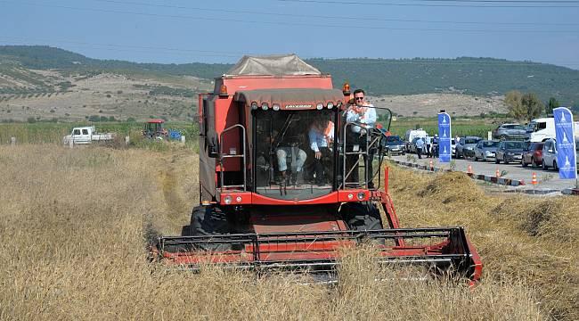 Karakılçık buğday hasadı Menemen'de gerçekleştirildi