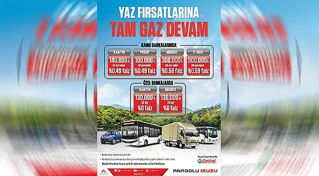 Anadolu Isuzu'dan Temmuz ayı boyunca cazip faiz ve ödeme olanağı