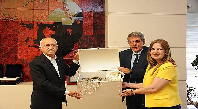 Balçova Belediye Başkanı Çalkaya'dan CHP lideri Kılıçdaroğlu'na ziyaret