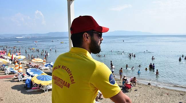 Bursa Gemlik sahillerinde cankurtaranlar göreve başladı