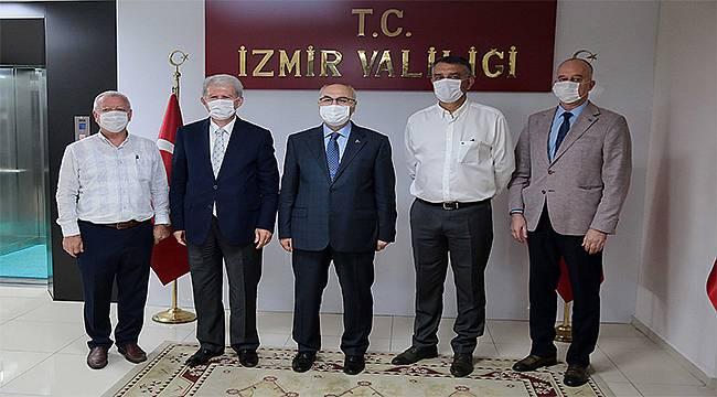 KOSBİ'den İzmir'in yeni Valisi Köşger'e ziyaret