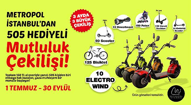 Metropol İstanbul'da yüzlerce muhteşem hediyeden biri sizin!