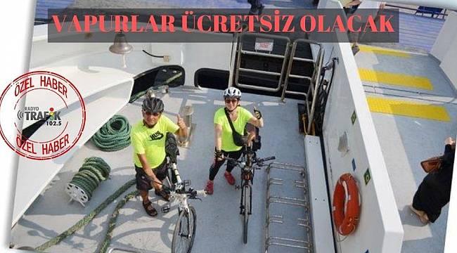 İzmirli bisikletlilere müjde: Vapurlar 5 kuruş olacak