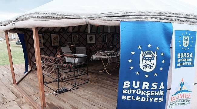 Yörük çadırında Bursa tanıtımı