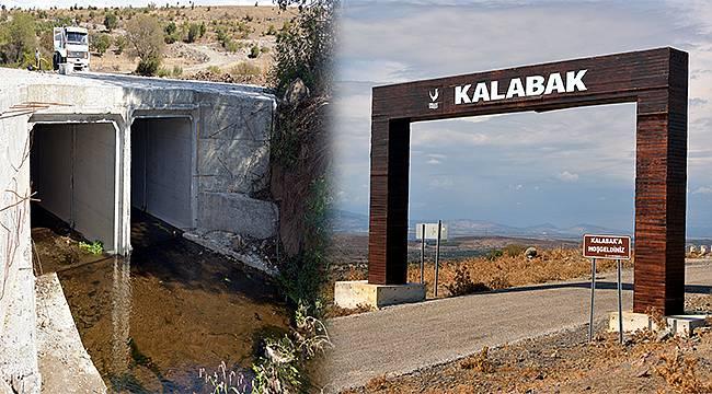 Aliağa Belediyesi'nden Kalabak'a Köprü