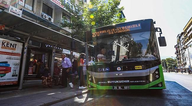Denizli Büyükşehir otobüsleri KPSS'ye gireceklere ücretsiz