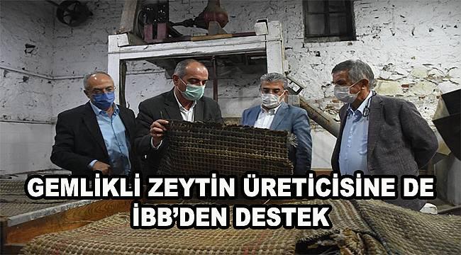Gemlikli zeytin üreticisine İBB desteği