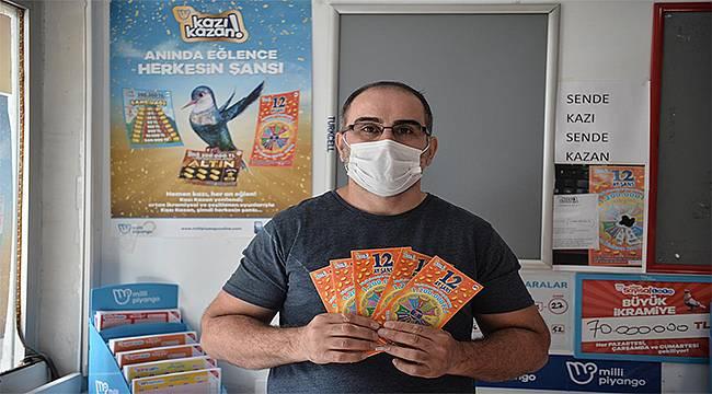 Kazı Kazan kartıyla 1 milyon 200 bin TL kazandı