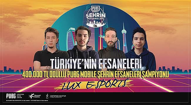 """400 bin TL ödüllü """"PUBG MOBILE Şehrin Efsaneleri"""" turnuvasının kazananları belli oldu"""