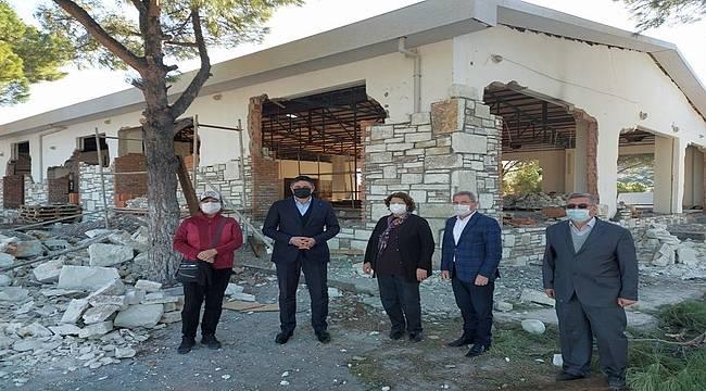 Güzelhisar Sosyal Tesisleri'nin inşaatı devam ediyor