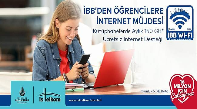 İBB Öğrencilere İnternet Desteğini Aylık 150 GB'ye Çıkartıyor