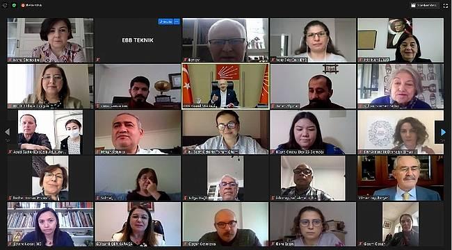 Kılıçdaroğlu belediye ve sivil toplum yetkilileriyle buluştu