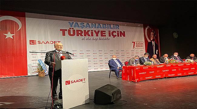 Temel Karamollaoğlu partisinin İzmir İl Kongresinde konuştu: