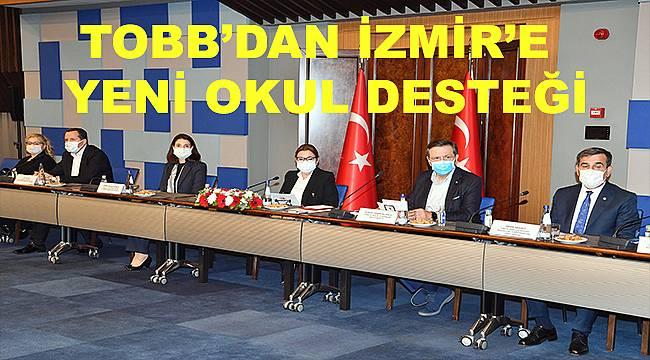 Türkiye Odalar ve Borsalar Birliği'nden İzmir'e yeni okul desteği