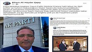 """AK Partili Çapçı'dan Fatih Gürbüz'e """"tokat gibi"""" cevap"""