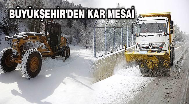 Denizli Büyükşehir Belediyesinden kar mesaisi