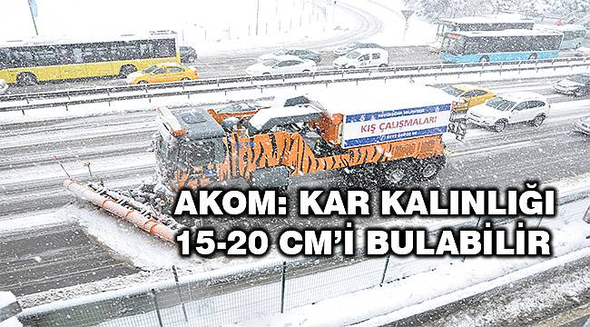 İBB Afet Koordinasyon Merkezi: Kar kalınlığı 15-20 cm'i bulabilir!