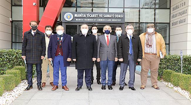 MHP Grup Başkanvekili Erkan Akçay'dan Manisa TSO'ya ziyaret