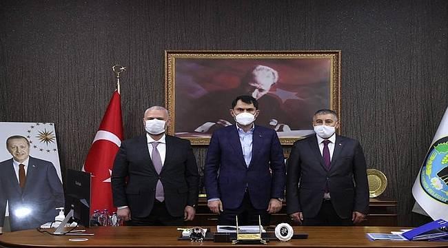Çevre ve Şehircilik Bakanı Murat Kurum, Menemen Belediyesini ziyaret etti