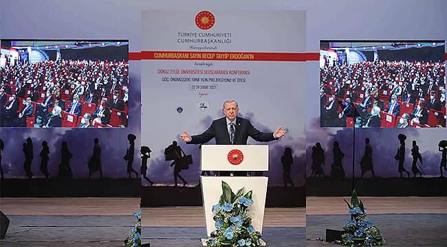 """Cumhurbaşkanı Erdoğan: """"İnsanlık Akdeniz ve Ege'de sınıfta kaldı"""""""