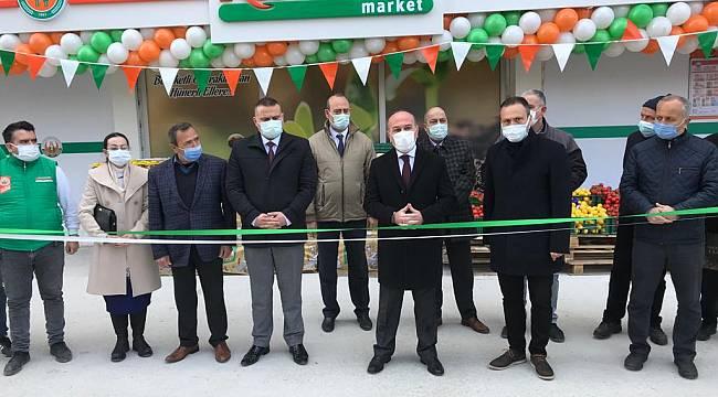 Bergama Tarım Kredi Market törenle açıldı