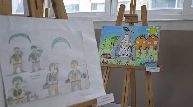 Minikler, 'Sağlıkta Yeşilay'ı resmetti