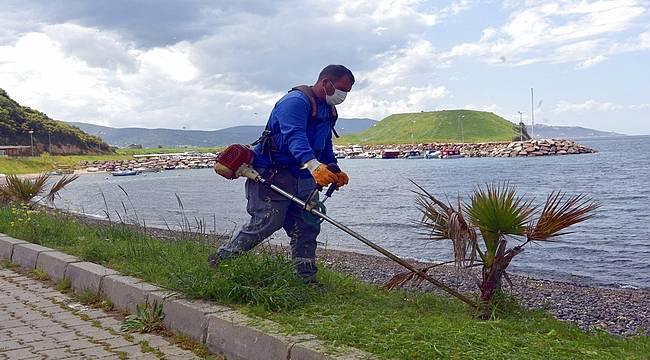 Aliağa'daki Çakmaklı Mahallesi'nde bahar bakımı