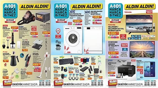 Nisan ayının son haftasın da uygun fiyatlı teknolojik ürünler A101 marketlerinde...