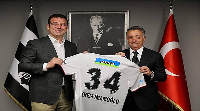 """Ekrem İmamoğlu'ndan Beşiktaş'a """"Şampiyonluk"""" Ziyareti"""