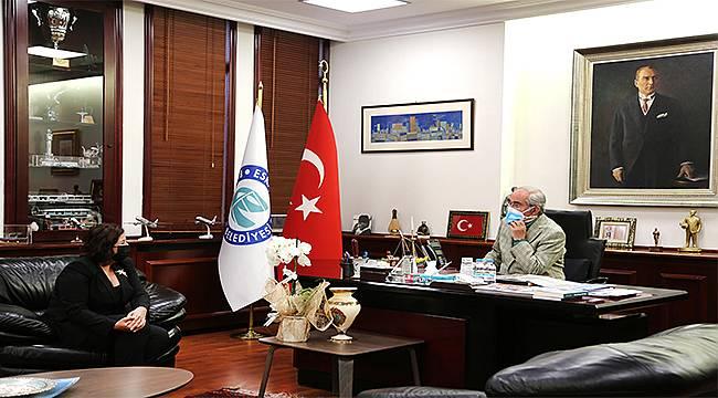 Amerika'da Yaşayan Türk Siyasetçiden Başkan Büyükerşen'e Ziyaret