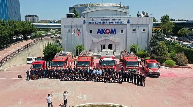 İstanbul Büyükşehir Belediyesi ekipleri Manavgat'a hareket etti